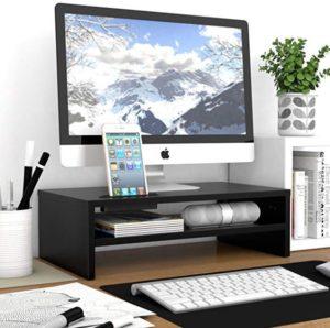 Supporto monitor e desk organizer