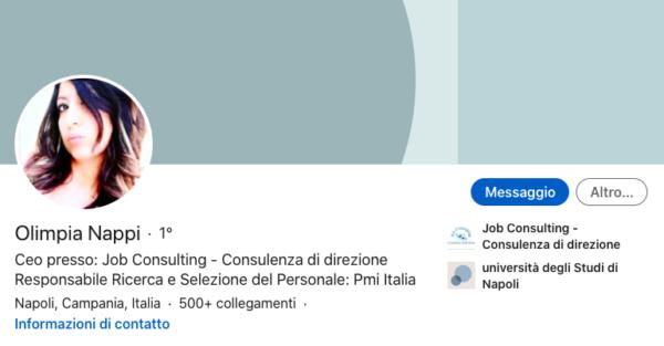 Profilo professionale di Olimpia Nappi CEO di Job Consulting